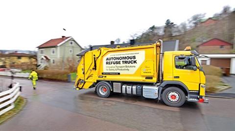 Şoförsüz Çöp Kamyonları Geliyor