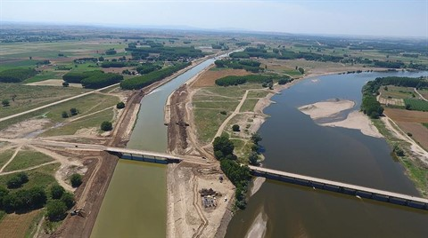 Kanal Edirne ile Meriç Nehri'nin Taşkınları Son Bulacak