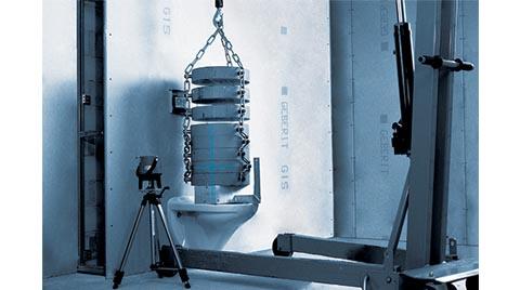 Geberit, Asma Klozetleri Statik Testlerle Tasarlıyor