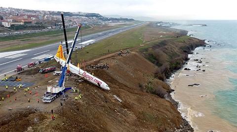 Pisten Çıkan Uçağın Teknik Aksamı ve Parçaları Sökülecek