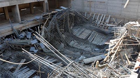 Kahramanmaraş'ta Bir İnşaatta Göçük Meydana Geldi