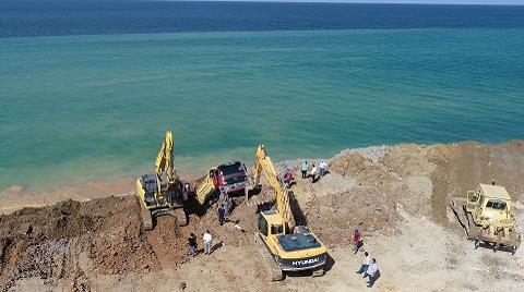 Trabzon'da Dolgu Alanında Toprak Kayması