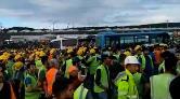 3. Havalimanında İşçiler Eylem Başlattı