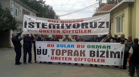Köylülerden Kil Ocağı Toplantısına Protesto
