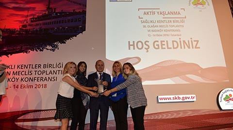 """Kadıköy Belediyesi'ne """"Sağlıklı Şehirler"""" Ödülü"""