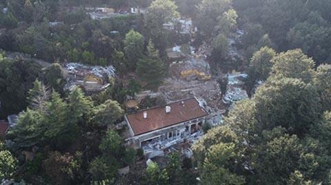 Adnan Oktar'ın Villasından Geriye Enkaz Kaldı
