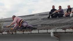 Çatı Ustalarından Şaşırtan Güvenlik Önlemi