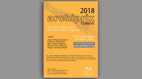 ARCHIPRIX-TR 2018 Mimarlık Öğrencileri Bitirme Projesi Yarışması