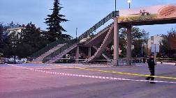 Konya'da Üst Geçidin Merdivenleri Çöktü