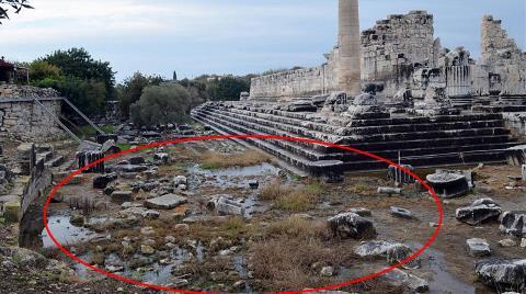 Tarihi Tapınakta Sebebi Bilinmeyen Sızıntı