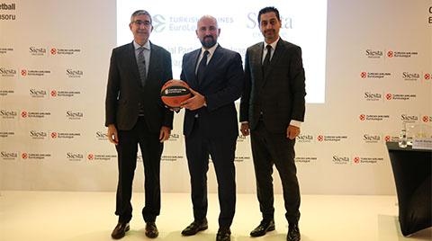Siesta Mobilya Euroleague Basketbol'un Yeni Resmi Sponsoru Oldu