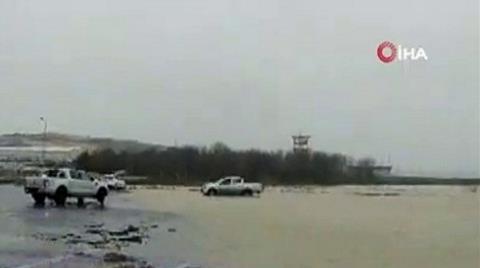 İstanbul Havalimanı Şantiye Alanını Su Bastı