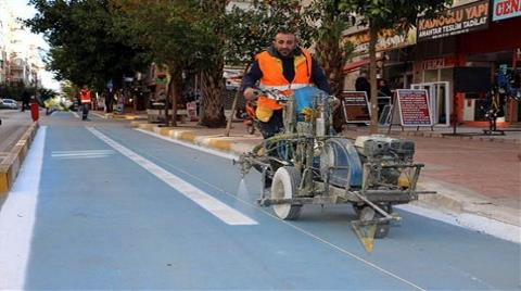 Antalya Bisiklet Yolu Projesi İçin Çalışmalar Başladı