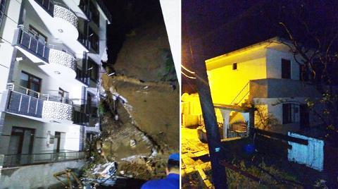 Yalova'da İstinat Duvarı Yıkılan 2 Bina Toprak Yığını Altında Kaldı