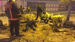 Kadıköy'de İş Makinesi Doğal Gaz Borusunu Deldi