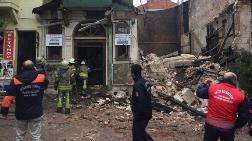Yedikule'de Bina Çöktü