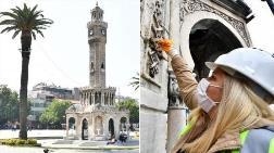 İzmir'de Tarihi Saat Kulesi'nde Restorasyon