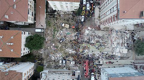 Kartal'da 8 Katlı Bir Bina Çöktü