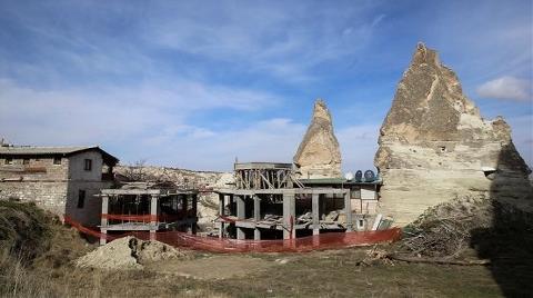 Göreme'deki Otel İnşaatının Yıkımına Ara Verildi