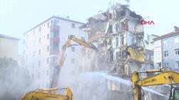 Kartal'da İkinci Binanın Yıkımı Devam Ediyor