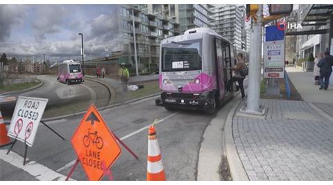 Sürücüsüz Otobüs Kullanılmaya Başlandı
