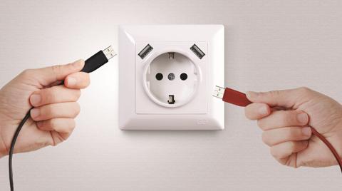 Günsan'dan Visage USB Topraklı Şarjlı Priz