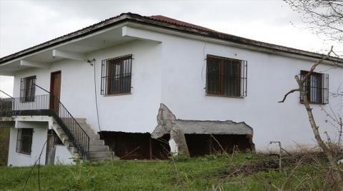 Ordu'daki Riskli 12 Ev Tahliye Edildi