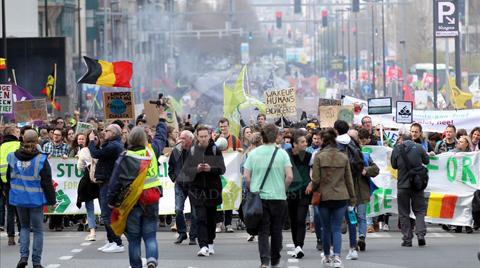 Brüksel'de İklim Protestosu