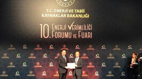 Arçelik'e Enerji ve Tabii Kaynaklar Bakanlığı'ndan Başarı Ödülü