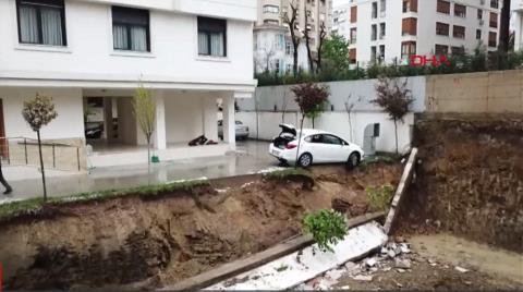 Kadıköy'de Bahçe Duvarı Çöktü, Apartman Mühürlendi