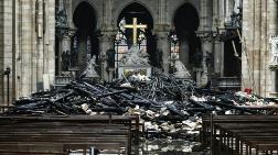 Notre Dame Katedrali'nin İçi Yangın Sonrası Görüntülendi