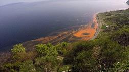 Marmara Denizi'ndeki 'Kırmızı Gelgit' Havadan Görüntülendi