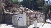 İzmir'de Çöken Bina Çevresine Tel Örgü Çekildi