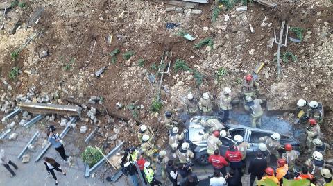 Başakşehir'de İstinat Duvarı Çöktü