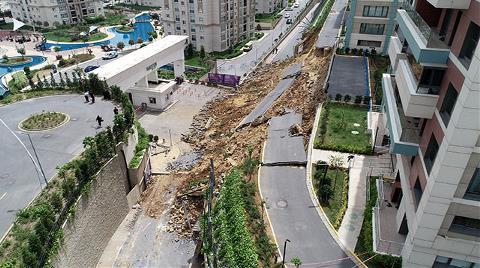 Başakşehir'de Çöken Duvar Enkazında Çalışmalar Sürüyor
