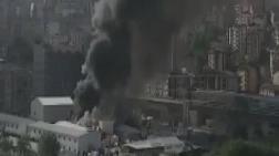 Alibeyköy'de Metro İnşaatında Yangın