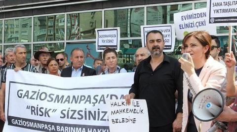 Gaziosmanpaşa'da Kentsel Dönüşüm Protestosu