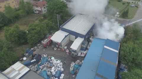 Atık Pil Fabrikasında Büyük Yangın