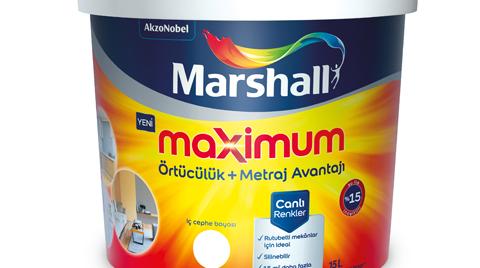 Marshall'dan Maximum İç Cephe Boyası