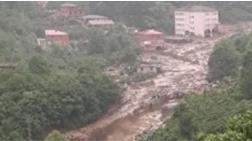 Trabzon Araklı'da HES Borusu Patladı