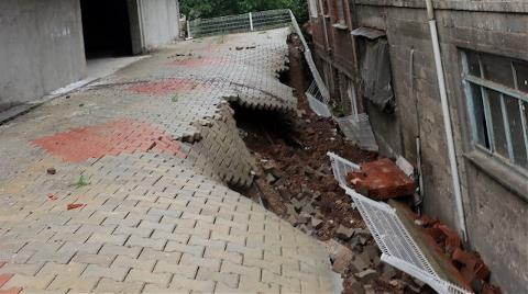 İstinat Duvarı Çöken 1,5 Yıllık Bina Tahliye Edildi