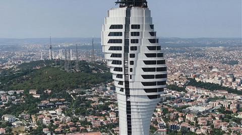 Küçük Çamlıca TV-Radyo Kulesi'nin Yüzde 70'i Tamamlandı