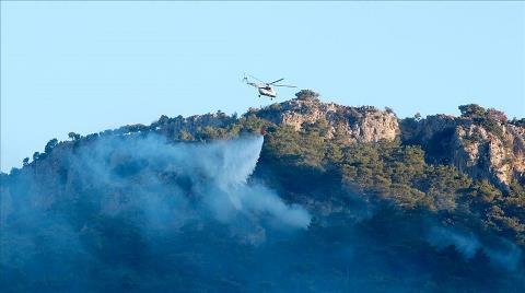 Muğla'da Kontrol Altına Alınan Orman Yangınına Müdahale Ediliyor