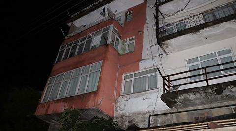 4 Katlı Bina Heyelan Nedeniyle Boşaltıldı