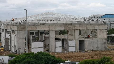 Sabiha Gökçen Havalimanı Camisi'nin Yüzde 40'ı Tamamlandı