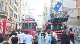 Beyoğlu'nda Nostaljik Tramvayın Elektrik Kablosu Koptu
