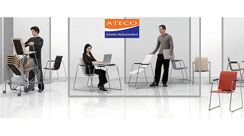 Ateco Zemin'den Hem Koltuk Hem Masa Seattable ile Bir Arada