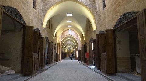 Harabeye Dönen Halep Kapalı Çarşı'da Restorasyon Çalışmaları