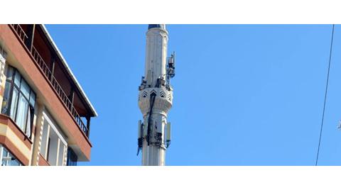 Avcılar'da Minare Baz İstasyonuna Döndü