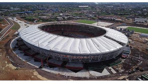 Japoma Stadyumu'nun Çatısında Polinet İmzası